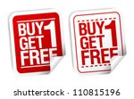 buy one get one free ... | Shutterstock .eps vector #110815196