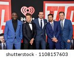 "Small photo of LOS ANGELES, CA - June 7, 2018: Hannibal Buress, Jeremy Renner, Jon Hamm, Jake Johnson & Ed Helms at the world premiere for ""TAG"" at the Regency Village Theatre"