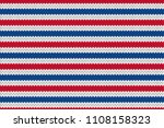 knitted stripe pattern. usa... | Shutterstock .eps vector #1108158323