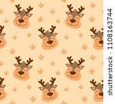 smile animal face seamless... | Shutterstock .eps vector #1108163744