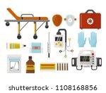 ambulance icons medicine health ... | Shutterstock .eps vector #1108168856