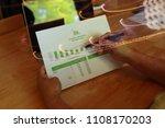 business team meeting present... | Shutterstock . vector #1108170203