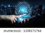 businessman on blurred... | Shutterstock . vector #1108171766