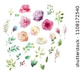 beautiful  watercolor whimsical ... | Shutterstock . vector #1108172540