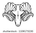 abstract black symbol argali.... | Shutterstock .eps vector #1108173230