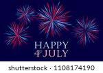 happy 4th of july festive... | Shutterstock .eps vector #1108174190