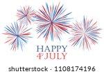 happy 4th of july festive... | Shutterstock .eps vector #1108174196