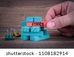 ethics business concept with... | Shutterstock . vector #1108182914
