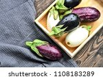 3 colorful mixed of eggplant ... | Shutterstock . vector #1108183289
