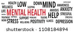 mental health words background | Shutterstock .eps vector #1108184894