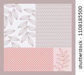 pattern combination for scarf... | Shutterstock .eps vector #1108185500