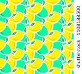 abstract lemon seamless vector... | Shutterstock .eps vector #1108188500