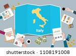italy economy country growth... | Shutterstock .eps vector #1108191008