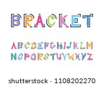 color font in brackets | Shutterstock .eps vector #1108202270