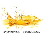orange juice splash isolated on ... | Shutterstock . vector #1108203239