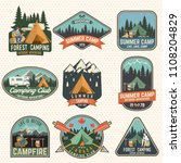 set of camping and caravanning... | Shutterstock .eps vector #1108204829