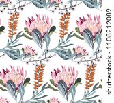 tropical pattern with exotic... | Shutterstock .eps vector #1108212089