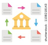 ledger is flowing around a bank ... | Shutterstock .eps vector #1108218143