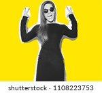 beautiful happy cute smiling... | Shutterstock . vector #1108223753