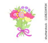 beautiful bouquet in graphic...   Shutterstock .eps vector #1108234934