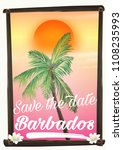 save the date   barbados... | Shutterstock . vector #1108235993