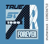 true star forever typography... | Shutterstock .eps vector #1108236713