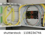 optical fiber distribution... | Shutterstock . vector #1108236746