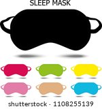 sleep mask. vector illustration | Shutterstock .eps vector #1108255139