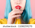 closeup studio portrait of... | Shutterstock . vector #1108259270