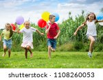 active kids having fun and... | Shutterstock . vector #1108260053