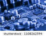 electronic circuit board close... | Shutterstock . vector #1108262594