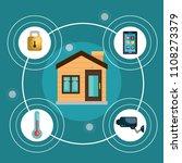 smart home technology set icons