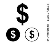 dollar icon set.vector... | Shutterstock .eps vector #1108273616