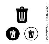 garbage icon set.vector... | Shutterstock .eps vector #1108273643