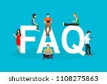 frequently asked questions... | Shutterstock .eps vector #1108275863