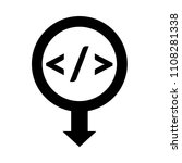 code sign and map pointer | Shutterstock .eps vector #1108281338