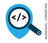code sign and map pointer | Shutterstock .eps vector #1108281344