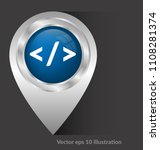 code sign and map pointer | Shutterstock .eps vector #1108281374