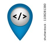 code sign and map pointer | Shutterstock .eps vector #1108281380