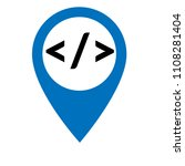 code sign and map pointer | Shutterstock .eps vector #1108281404