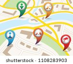 set of tourism services map... | Shutterstock .eps vector #1108283903