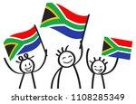 cheering group of three happy...   Shutterstock .eps vector #1108285349