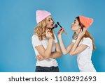 fashionable girlfriend doing... | Shutterstock . vector #1108292693