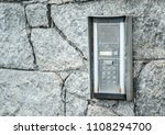 an old intercome access pad on... | Shutterstock . vector #1108294700