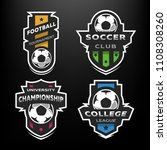 set of soccer football logo ...   Shutterstock . vector #1108308260