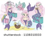 sea vector colorful... | Shutterstock .eps vector #1108310033