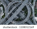 aerial view of highway and... | Shutterstock . vector #1108312169