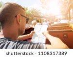 closeup of a young cacausian... | Shutterstock . vector #1108317389