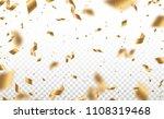 falling shiny golden confetti... | Shutterstock .eps vector #1108319468