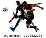 two soccer players men in... | Shutterstock . vector #1108322198